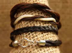 various horse hair bracelets